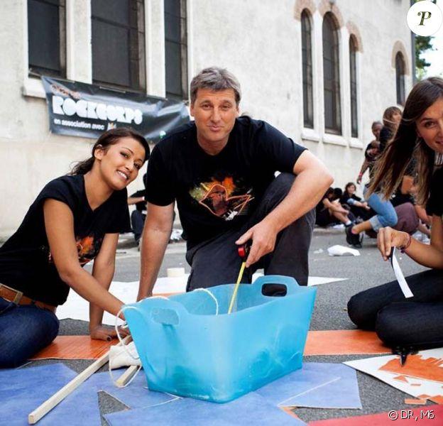 François Pécheux, Daphné Desjeux et Karima Charni à la Fondation Maison des Champs le 26 août 2009