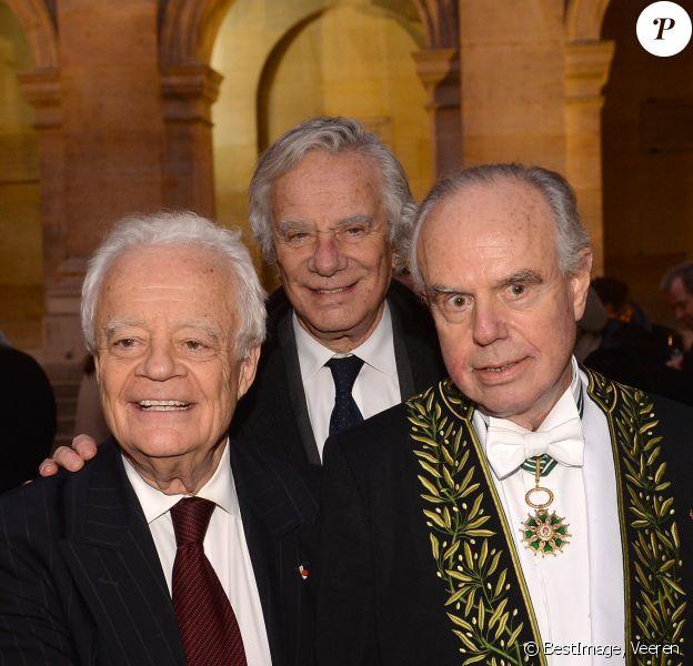 Jean-Gabriel Mitterrand, Olivier Mitterrand et Frédéric Mitterrand lors de la cérémonie d'installation de F.Mitterrand à l'académie des Beaux-Arts à Paris, France, le 6 février 2020. © Veeren/Bestimage