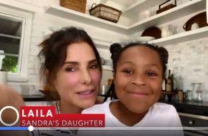 """Sandra Bullock : Emue aux larmes avec sa fille Laila, sa """"super-héroïne"""""""