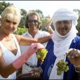 Ivana Trump et Mohamed Ixa lors des Vendanges du Désert, au domaine de Bertaud-Belieu, le 27 août 2009
