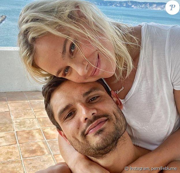 Florent Manaudou et Pernille Blume à Marseille pendant le confinement le 20 mars 2020.