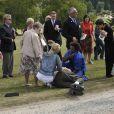 Le roi Albert II de Belgique et sa femme Paola ont fêté le 30 août 2009 leurs noces d'or lors d'une garden party au Château Laeken. Un accident de calèche est venu gâcher la fête...