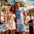 Charlotte Pirroni et Florian Thauvin à Las Vegas le 22 juin 2019.