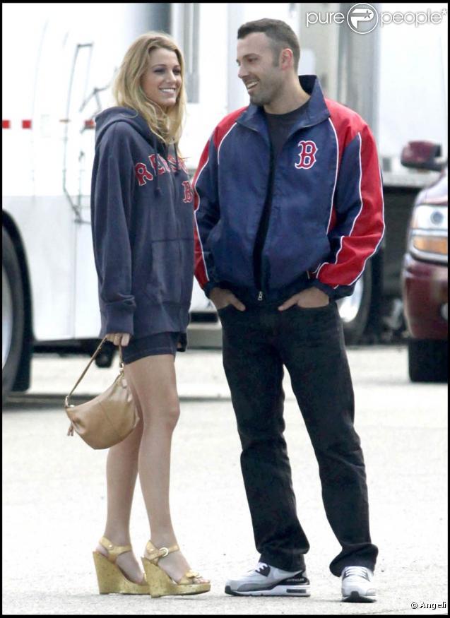 Blake Lively et Ben Affleck sur le tournage de  The Town , à Boston, le 1er septembre 2009 !