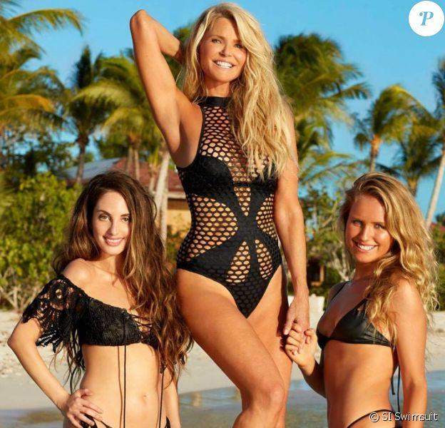 Christie Brinkley et ses filles Alexa Ray Joel et Sailor Brinkley Cook pour Sports Illustrated Swimsuit 2017.
