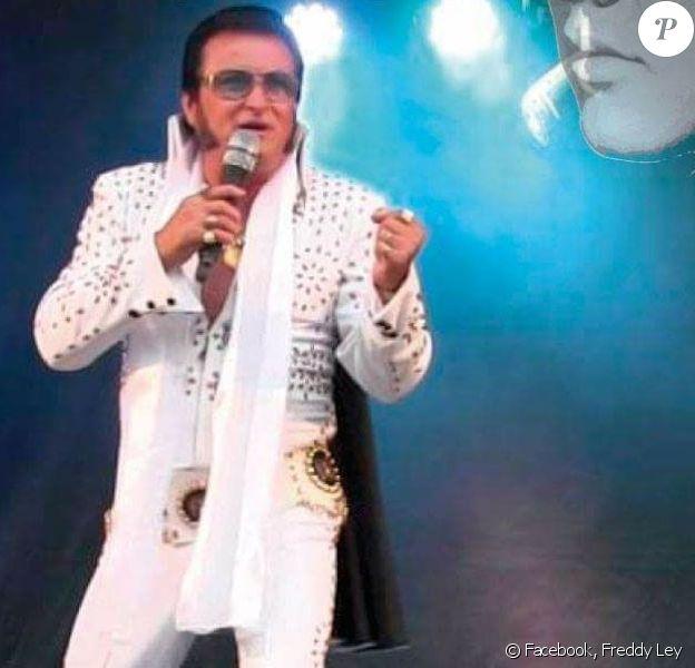 Freddy Ley, sosie officiel d'Elvis Presley. Facebook le 15 mai 2018.