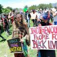 Paris Jackson participe à la manifestation contre le racisme et les violences policières, avec le mouvement Black Lives Matter en mémoire de George Floyd. Los Angeles, le 30 mai 2020. George Floyd a été asphyxié par plaquage au sol lors de son arrestation à Minneapolis, le 25 mai 2020.