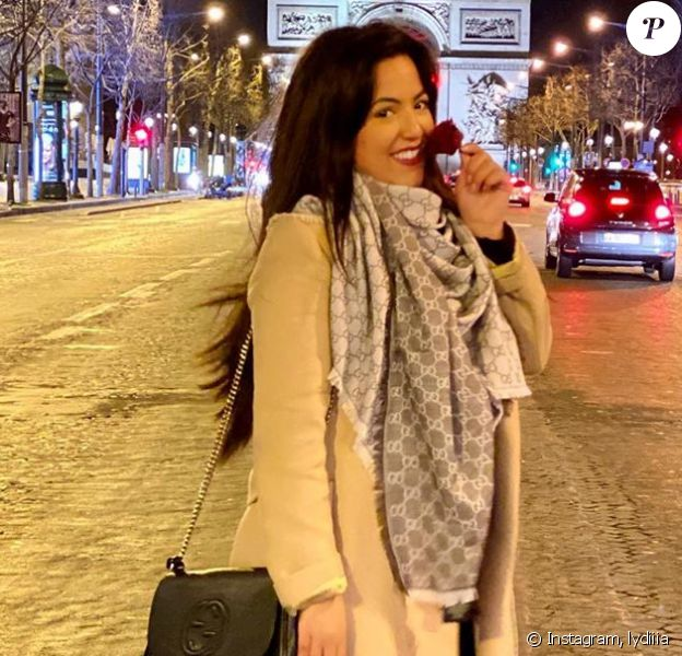 """Lydia de """"Pékin Express"""" à Paris, le 26 février 2020"""
