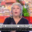 """Mylène Demongeot invitée dans """"L'heure des pros"""" sur CNews. Le 12 juin 2020."""