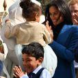 """Doria Ragland, la mère de Meghan Markle, le prince Harry, duc de Sussex - Meghan Markle reçoit les femmes qui apparaissent dans le livre de recettes """"""""Together, our community cookbook"""""""" au palais Kensington à Londres le 20 septembre 2018."""