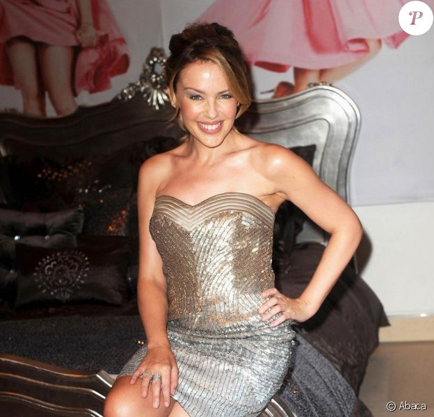 Kylie Minogue présente sa nouvelle ligne de linge de maison. 7/09/09