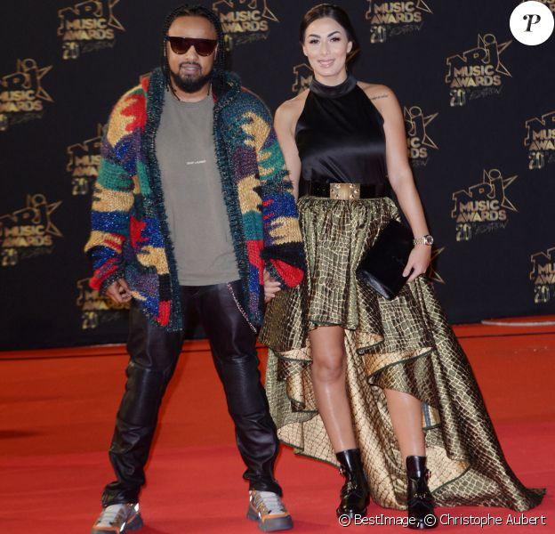 Alonzo (Kassim Djae) et sa femme Samantha lors de la 20ème cérémonie des NRJ Music Awards au Palais des Festivals à Cannes. Le 10 novembre 2018 © Christophe Aubert via Bestimage