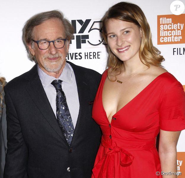 "Steven Speilberget sa fille Destry Allyn Spielberg - Première du film ""Speilberg"" lors du festival du film de New York le 5 octobre 2017."