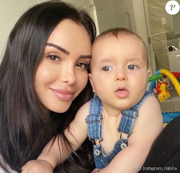 Nabilla Benattia et son fils Milann, le 4 juin 2020