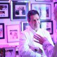 Exclusif - Le chef Christophe Leroy, Bernard Werber lors d'une soirée blanche dans un appartement à Paris le 1er juillet 2020. Le chef Christophe.Leroy souhaitait célébrer l'été dans une ambiance festive autour de ses plats les plus fins. © Rachid Bellak / LMS / Bestimage