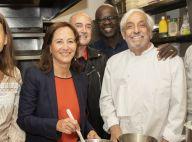 Ségolène Royal avec Lilian Thuram et Kareen Guiock pour un déjeuner d'été