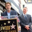 Joe Mantegna et Gary Sinise - Gary Sinise reçoit son étoile sur le Walk of Fame à Hollywood, le 17 avril 2017 © Chris Delmas/Bestimage