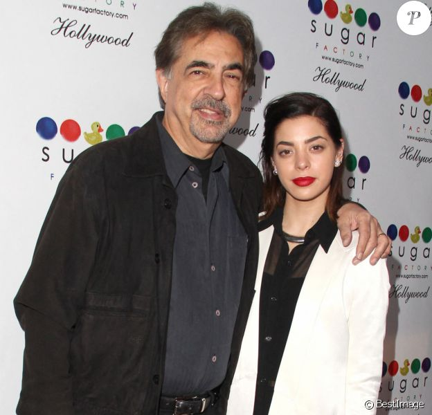 Joe Mantegna et sa fille Gia Mantegna - Personnalites lors de l'ouverture de la Sugar Factory a Hollywood le 13 Novembre 2013