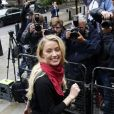 Amber Heard et Johnny Depp arrivent à la Cour Royale de justice à Londres dans le cadre d'un procès en diffamation contre le journal The Sun le 8 juillet 2020.