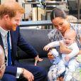 Le prince Harry et Meghan Markle, duc et duchesse de Sussex, avec leur fils Archie (alors âgé de quatre mois) au Cap en Afrique du Sud le 25 septembre 2019.