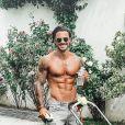 """Benjamin Samat des """"Marseillais"""" montre ses muscles sur Instagram, le 18 juin 2020"""