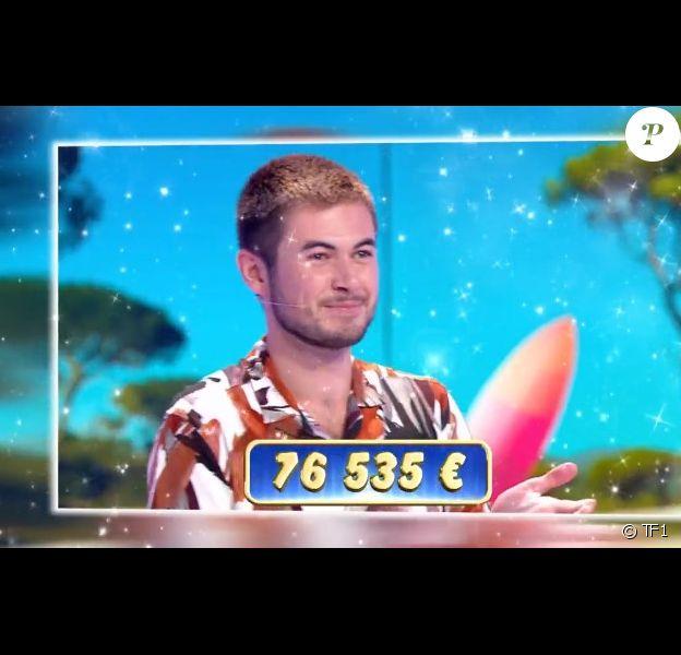"""Antonin dans l'émission """"Les douze coups de midi"""" sur TF1. Le 18 juillet 2020."""