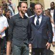 François Hollande et Olivier Ciappa, le 14 juillet 2013 à Paris.