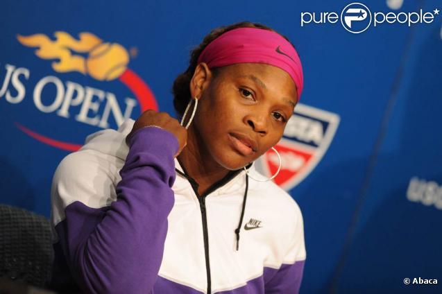 Serena Williams lors de sa demi-finale à l'US Open 2009