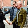 """Exclusif - Le fondateur du site Amazon, Jeff Bezos et sa compagne Lauren Sanchez déjeunent avec la papesse de la mode, Anna Wintour au restaurant """"Sant Amboeus"""" à New York, le 28 janvier 2020."""