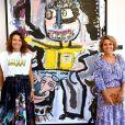Exclusif - Muriel Franceschetti et Laura Tenoudji Estrosi au vernissage à Nice de l'exposition Mulia de l'artiste peintre d'origine corse Muriel Franceschetti, à la Galerie 10 Jean Jaurés, le 23 jullet 2020. Cette exposition est installée jusqu'au samedi 29 août 2020. © Bruno Bebert / Bestimage