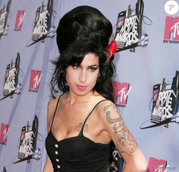 Amy Winehouse aux MTV Movie Awards à Los Angeles, en 2007.