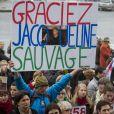 Manifestation de soutien à Jacqueline Sauvage à Paris, en prison pour avoir tué son mari violent. Le 23 janvier 2016 © Stéphane Caillet / Panoramic / Bestimage
