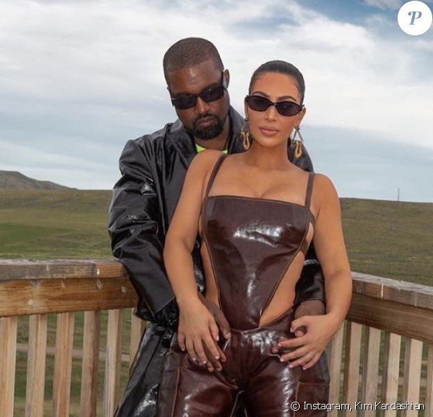 Kanye West, Kim Kardashian et leurs 4 enfants, North, Saint, Chicago et Psalm. Juin 2020.