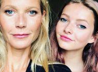Gwyneth Paltrow : Séance de sport à la maison avec sa fille et sosie, Apple