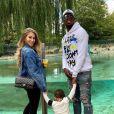 Paul Pogba, son épouse Zulay Pogba et leur fils Shakur visitent le zoo de Londres. Août 2020.