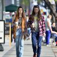 Exclusif - Paris Jackson et Gabriel Glenn sur Melrose Avenue à West Hollywood. Le 29 janvier 2019