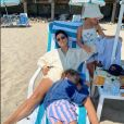 Kourtney Kardashian et ses enfants Penelope et Reign Aston. Juillet 2020.