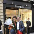 Inès de la Fressange et Olivier Echaudemaison à la soirée Guerlain à Paris le 10 septembre 2009