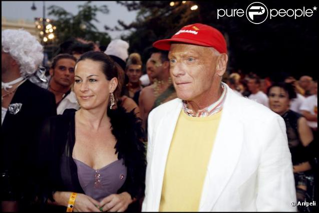 Niki Lauda et son épouse Birgit