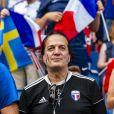 Francis Lalanne dans les tribunes lors de la 8e de finale de la Coupe du Monde Féminine de football opposant la France au Brésil au stade Océane au Havre, France, le 23 juin 2019. © Pierre Perusseau/Bestimage