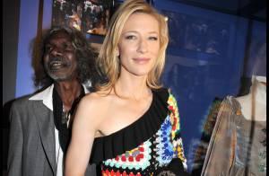 Cate Blanchett : un visage radieux mais une tenue... déconcertante ! Drôle de choix !