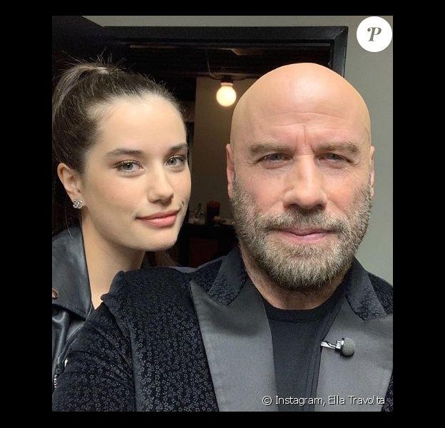 John Travolta et sa fille Ella sur Instagram.