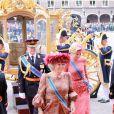 La reine Beatrix et Maxima des Pays-Bas arrivent pour la rentrée politique batave...