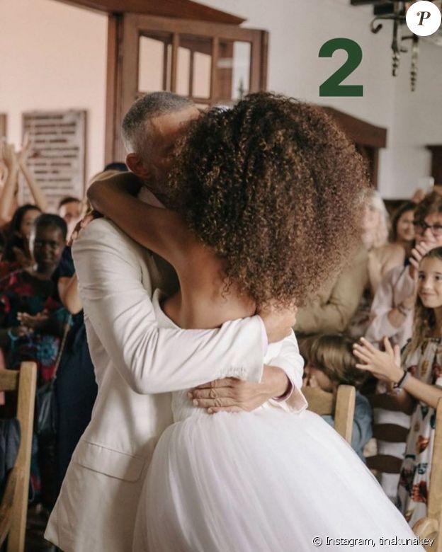 Vincent Cassel et Tina Kunakey fêtent leurs 2 ans de mariage sur Instagram, le 24 août 2020.