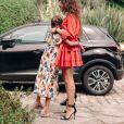 Deva et Leonie, les filles de Vincent Cassel, le jour de son mariage avec Tina Kunakey, le 24 août 2018.