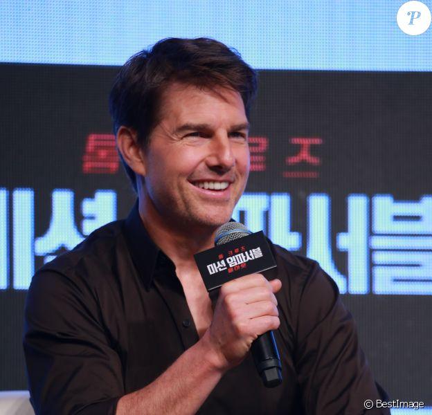 """Tom Cruise en promotion pour """"Mission: Impossible Fallout"""" à Séoul"""