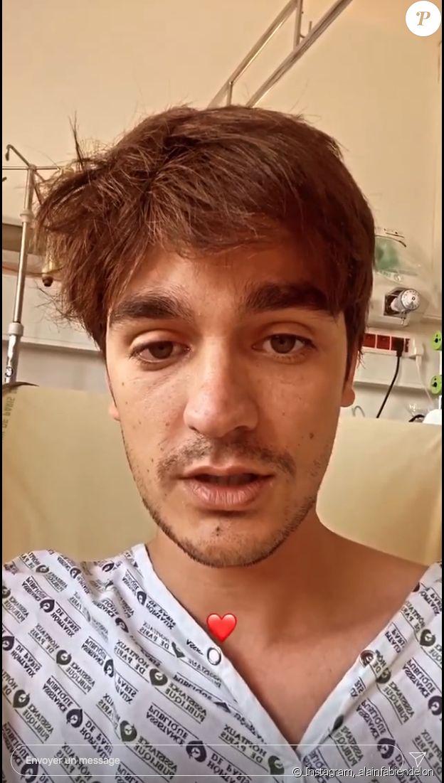Alain-Fabien Delon hospitalisé pour un pneumothorax, donne de ses nouvelles sur Instagram, le 3 septembre 2020.