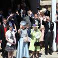 Le prince Harry, duc de Sussex, et Meghan Markle, duchesse de Sussex, lors de leur mariage au château de Windsor, Royaume Uni, le 19 mai 2018.