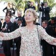 """Annie Cordy - Montée des marches du film """"Mia Madre"""" (Ma Mère) lors du 68 ème Festival International du Film de Cannes, à Cannes le 16 mai 2015."""