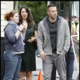"""Rebecca Hall et Ben Affleck sur le tournage de  The Town . Septembre 2009 """